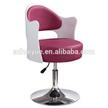 Silla giratoria de peluquería de cuero de PU, sillas de salón