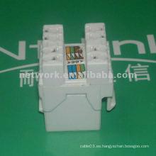 Blanco 180 grados cat5e utp rj45 conector de red