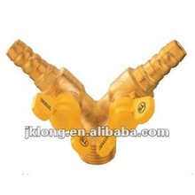 J2040 Brass Male Screw Leakproof Gas Ball Valve With Double Mouth