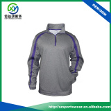OEM Polyester Spandex Quarter Contrast Zip 2 Side Pockets Men Windbreaker Pullover Jacket