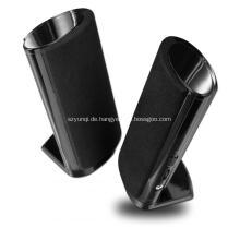 Kompakt und portabel 2.1 Lautsprecher kleines Notizbuch