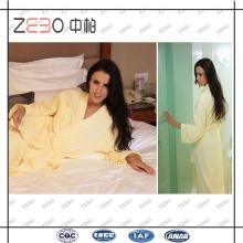 Супер мягкий срез бархатной ткани сплошной цвет Оптовая хлопок Hotel Collection Халат