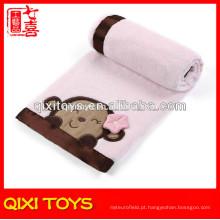 Cobertor feito à mão polar do bebê do velo da porcelana cobertores do bebê crocheting do luxuoso