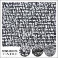 Personnalisé Différents types de tissu de tweed gris vêtement doux