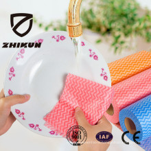 Polyester and Viscose Spunlace Nonwoven Fabric Wipe Cloth for Kitchen Sweeping