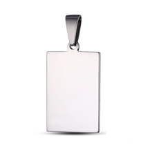 Stainless Steel Jewelry Custom Logo Tag Engrave Pendant
