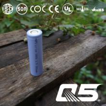 3.7V2800mAh, bateria de lítio, Li-ion 18650, cilíndrica, recarregável