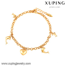 74563-Xuping Jewelry Shop Promotion Simple Design Bracelet With Hanging Ornaments