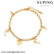 Bracelete do projeto simples da promoção da loja de jóia 74563-Xuping com ornamento de suspensão