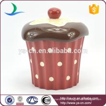 Cake Design Jarre de rangement en céramique