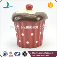 Cake Design Ceramic Storage Jar