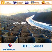 Surface lisse et géocellules en plastique HDPE de surface texturées