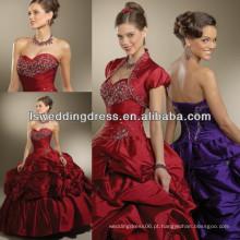 HQ2009 Vestido de quinceañera de chegada nova vestido de bola vermelha escura