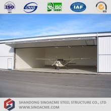 Hangar de aviones de marco de metal ligero