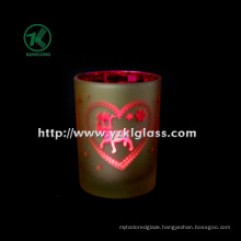 Color Double Wall Glass Candle Cup by SGS (8*10.5)