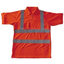 Pólo de segurança de alta visibilidade com manga curta (DFJ023)