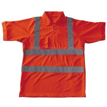 Polo de seguridad de alta visibilidad con manga corta (dfj023)