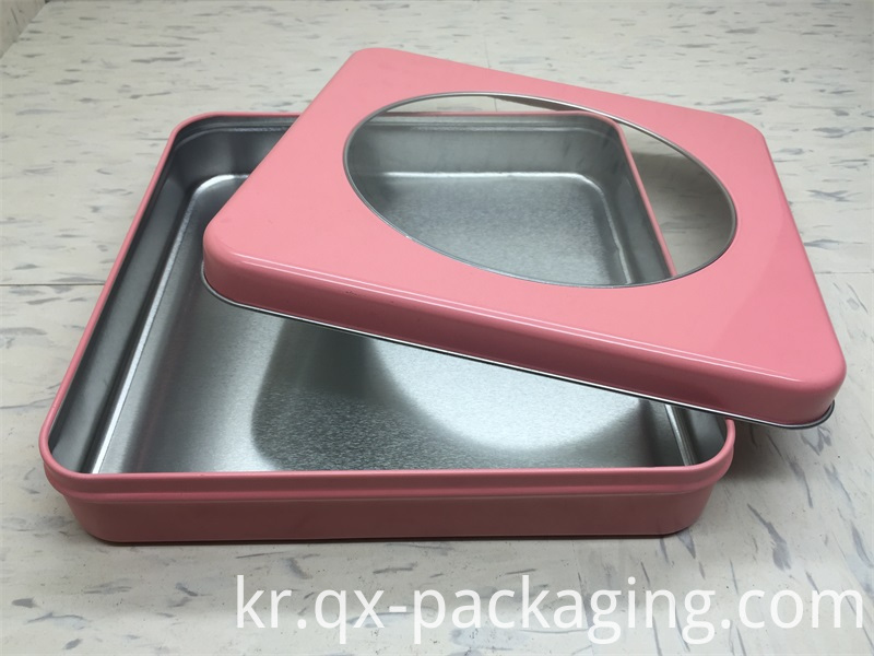 Metal storage tins with lids