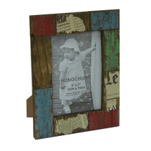 Antique Wooden Photo Picture Frame for Holiday Deco