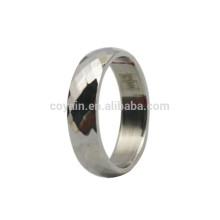 Günstige Silber Edelstahl Raster Ring