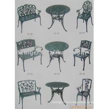 fundición de arena de aluminio de muebles de jardín, muebles de jardín