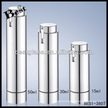 15ml round acrylic body cream container, 30ml silver body cream container with pump, 50ml acrylic containers with lids
