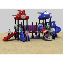 OEM China High quality for Cartoon Aircraft Series Playground Fun Play Structure Tunnel Slide export to Ethiopia Factory