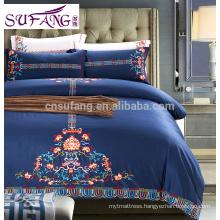 4pcs cotton embroidery bed sheet/design home textile/bed sheet set
