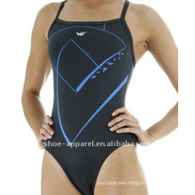 Custom polyester women swimwear black color