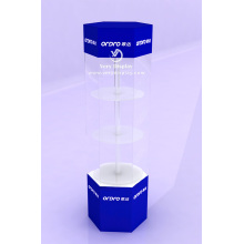 Customized acrylic rotating display showcase stand with LED