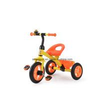 Ce Certificación Triciclo de bebé simple con rueda de goma (TR704 naranja)