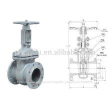 Medium temperature and low pressure cast steel gate valveZ41H-16C