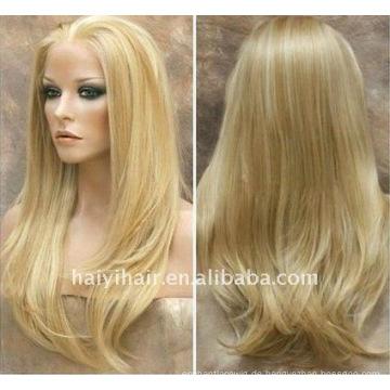 Un verarbeitete natürliche blonde Perücken