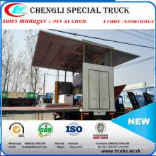 4 x 2 tipo médio palco móvel caminhão por caminhão Roadshow