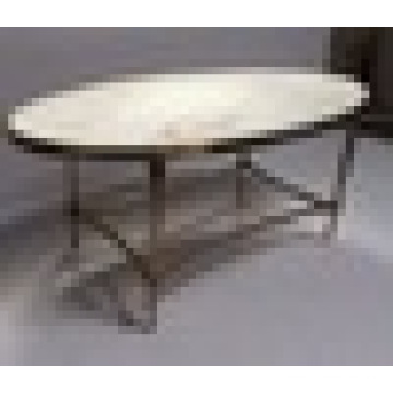 Hot sale round gold color metal coffee table stainless steel folding table