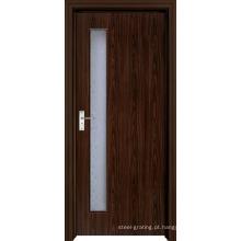 Porta de madeira do PVC para cozinha ou banheiro (pd-006)