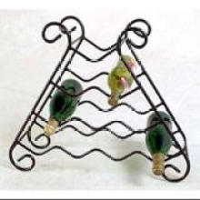 10 Bottles Metal Wire Wine Rack