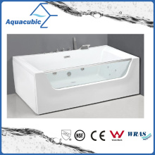 Rectangle Whrilpool Bathtub in White (AB0828)