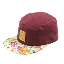high quality 5panel cap with your own logo for wholesale