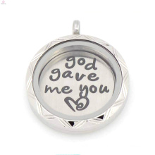 2015 Fancy 22mm Silver God Gave Me You Love Floating plates For 30mm living glass locket
