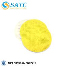 Disque de ponçage à sec de mur jaune de 225mm en Chine avec le rendement élevé