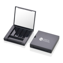 Private Label Your Own Brand Eyeshadow Cases Cheap Square Black Eyeshadow Case With Mirror