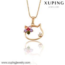 32687 Xuping jóias atacado china cor de Ouro pingente com zircão para Presentes