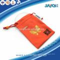 Bolsa de microfibra vermelha bronzeada para relógio