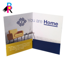 custom well design full color printing presentation folder