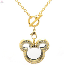 Cute Stainless Steel locket fashion18k solid gold chain necklaces 2018