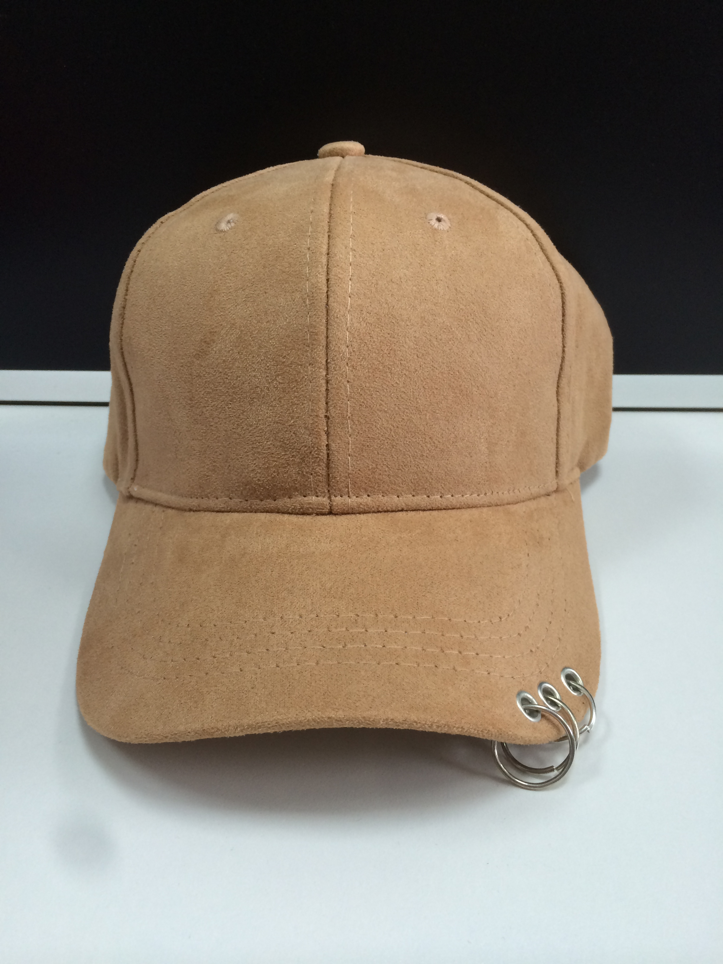 Suede Fabric Golf Cap Khaki