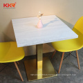 custom cut marble table top restaurant dining tables and chairs