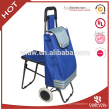 polyester durable folding trolley with seat