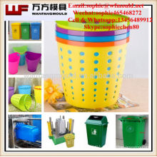Plastic injection household trash can mould made in China/OEM Custom Plastic injection household trash can mold making